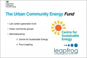 Urban Community Energy Fund – The Way Forward For Small Projects